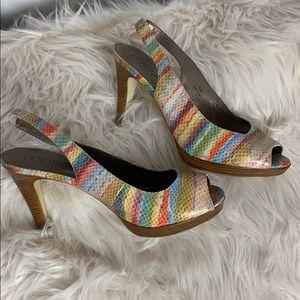 Mods Spana watercolor snake skin heels